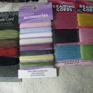 4 -Packages of Cord/Ribbon - 2 Braiding Cord, 1-Suede Cord,1- Sheer Ribbon