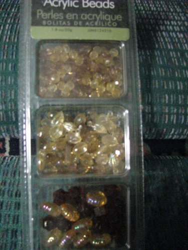 Acrylic Beads, Amber Colors