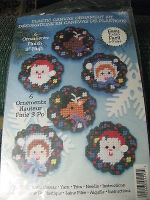 "Plastic Canvas Ornament Kit- Makes 6-3"" Ornaments"