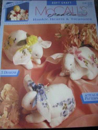 McCall's Creates Hankie Hearts & Treasures.  Soft Craft.  Pattern Book