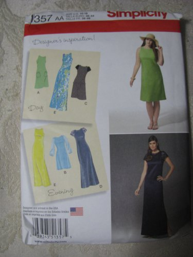 Simplicity 1357 Sizes 10-18 Misses' /Women's Dress