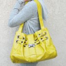 M YELLOW CELEBRITY CINCHED cinched BUCKLE HANDBAG PURSE