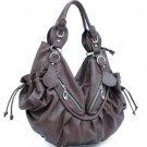 Gray Celebrity Designer slouchy Studded handbag bag