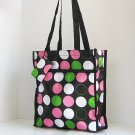Brown Pink Dots SHOPPING BAG Diaper TOTE School Handbag