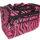 PINK ZEBRA DUFFLE BAG LUGGAGE CARRY-ON OVERNIGHT 16""