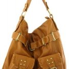 Tan Washed Inspired Designer Urban Large Handbag Tote