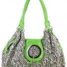 Green Celebrity Leopard Buckle Designer Handbag Hobo !!