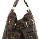 Brown Washed Inspired Designer Urban Large Handbag Tote