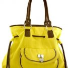 Yellow Fringe Inspired Buckle Designer Handbag Tall Bag