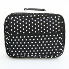 """14/15.4"""" Black Polka Dots Laptop Case Notebook Bag"""