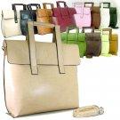 BROWN Slick Vani Lady Designer Briefcase Handbag Purse