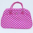 PINK HEARTS GYM  DUFFLE BAG LUGGAGE CARRY ON OVERNIGHT