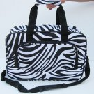 ZEBRA BLACK DUFFLE GYM BAG SPORTS CARRY ON OVERNIGHT