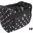 """Star White DUFFLE BAG LUGGAGE CARRY ON OVERNIGHT 16"""""""