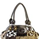 Brown designer Multicolor Patchwork inspired Celebrity Shoulder Bag Purse