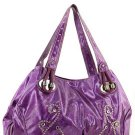 Purple Shinny Studs Designer Inspired Celeb Handbag Bag