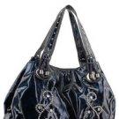 Blue Shinny Studs Designer Inspired Celeb Handbag Bag