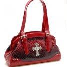 Red Cross Croc Western Inspired Designer Tote Handbag