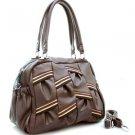 Brown Multicolor strip Designer shoulder bag Handbag