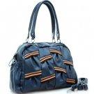 Blue Multicolor strip Designer shoulder bag Handbag