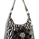 White Zebra Inspired Designer Zebra Print Faux Leather Handbag Purse