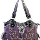 Purple Designer  Studs Inspired Tribal tote Western Handbag Purse