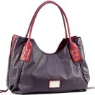Purple designer inspired croco embossed material  Celebrity Handbag Purse Tote