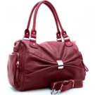 Red designer inspired front decorative shoulder bag pockets  Purse Handbag