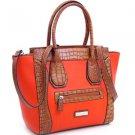 Red designer inspired Large Tote  Croco Trim Detachable Strap Handbag Purse