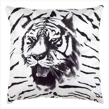 Tiger Print Accent Pillow