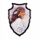 Indian Girl On A Arrowhead Clock