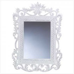 White Distressed Wall Mirror