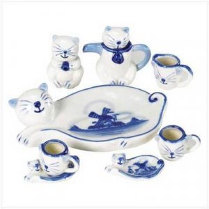 Mini Cat Tea Set - Set of 10