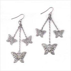 Lacework Butterfly Earrings