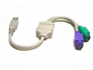 PS2 to USB Converter Adapter Cable