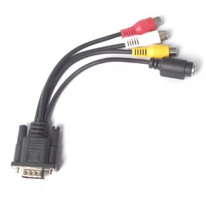 VGA to TV S-Video RCA AV 3 Adapter Cable