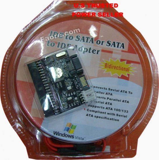 SATA to IDE or IDE to SATA adapter