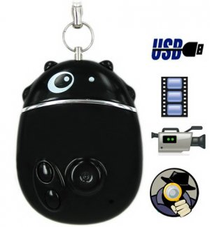 4GB Lovely Mini Hidden Camera with Time Synchronization Function - Black