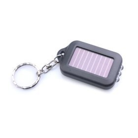 White Light Solar Powered Self-Recharge Flashlight Keychain