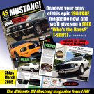 Legendary Mustang Magazine - Free Large T-shirt -US only - Non-subscriber