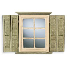 Mirrored Shutters Wall Hanging