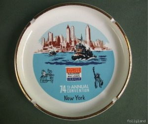 1966 Vintage New York Advertising Banker Convention Ashtray