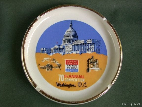 Washington D.C. Advertising Banker Convention Ashtray 1962