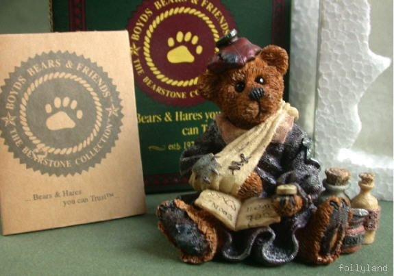 Retired Boyds Bearstone Bailey Poor Ol' Bear NIB 14E