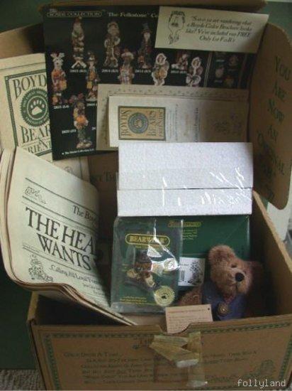FOB Boyds Bears Club Kit 1996 Uncle Elliot NIB Complete