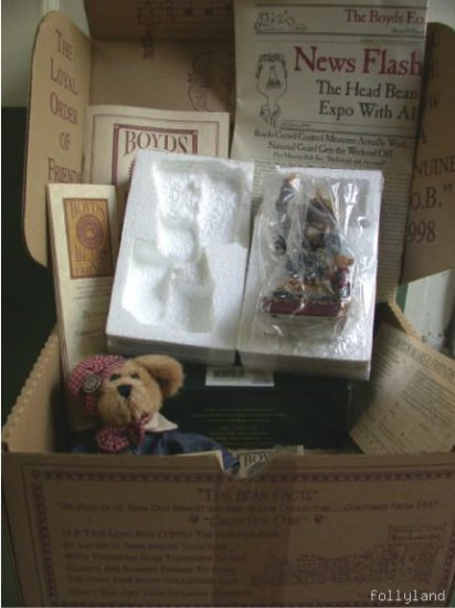 FOB Boyds Bear Club Kit 1998 Lady Libeart NIB Complete