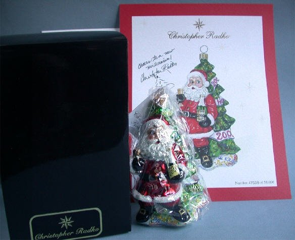 Radko 2000 Millennium Cheer LE Xmas Ornament & Art Print