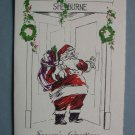 Vintage Shelburne Hotel Atlantic City Santa Christmas Card