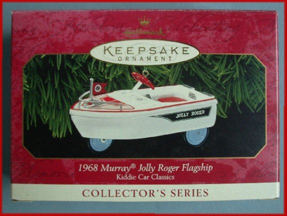 1999 Hallmark Ornament Kiddie Car Jolly Roger Flagship