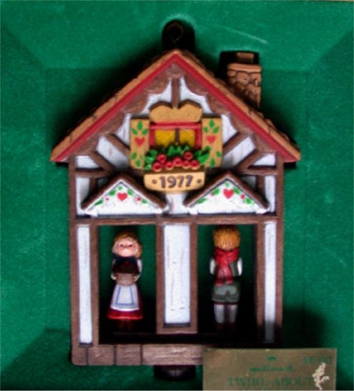 Hallmark 1977 Twirl-about Weather House Ornament